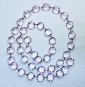 Girlandy kryształowe - Girlanda kryształowa, róż / 1m