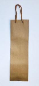 Torebki na prezenty - Torebka naturalna na wino / 11x36 cm