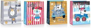 Torebki na prezenty - Torebka prezentowa Kids duża, mix wzorów
