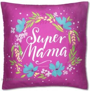 """Prezenty dla Mamy - Poduszka """"Super Mama"""" / 3079"""