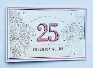 """Kartki na Rocznicę Ślubu - Kartka na rocznicę ślubu """"25 Rocznica Ślubu"""" / HM-100-661"""