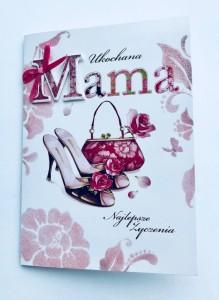 """Kartki i dyplomy dla Mamy - Kartka """"Ukochana Mama"""" / HM-200-289"""