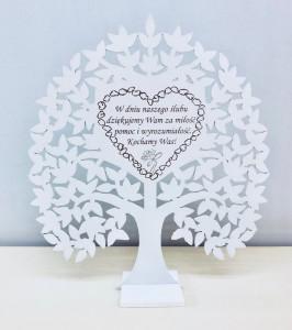 Podziękowania dla rodziców - Drzewko ozdobne dla Rodziców