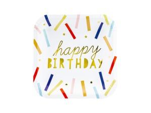 """Talerzyki z napisami - Talerzyki """"Happy Birthday"""" / 20x20 cm"""