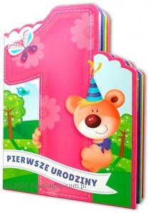 """Kartki urodzinowe - Książeczka na Roczek """"1 Urodziny"""" / 1ROK-DZ"""
