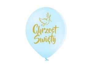 """Balony na Chrzest Święty - Balony lateksowe błękitne """"Chrzest Święty"""" / 30 cm"""