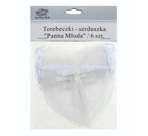 Pudełeczka na podziękowania dla gości - Torebeczki na podziękowania dla gości serduszka Panna Młoda