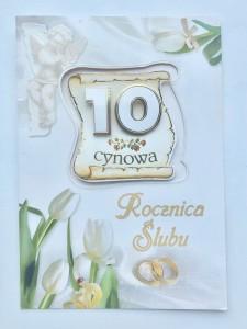 """Kartki na Rocznicę Ślubu - Karnet """"Cynowa Rocznica Ślubu"""" / LDG1"""