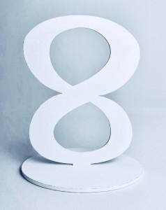"""Numery na stół - Cyferka drewniana """"8"""""""