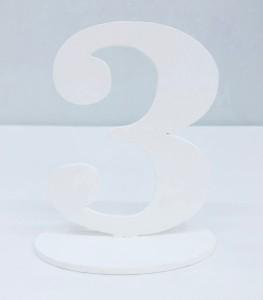 """Numery na stół - Cyferka drewniana """"3"""""""