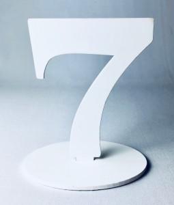 """Numery na stół - Cyferka drewniana """"7"""""""