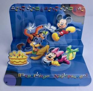 Kartki urodzinowe - Karnet 3D Myszka Mickey