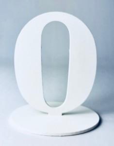 """Numery na stół - Cyferka drewniana """"0"""""""