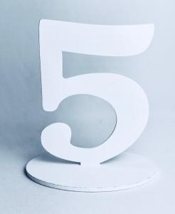 """Numery na stół - Cyferka drewniana """"5"""""""