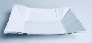 Talerzyki jednokolorowe - Talerzyki papierowe do fontanny czekolady / 13x17 cm
