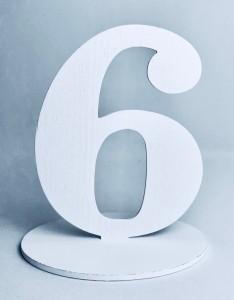 """Numery na stół - Cyferka drewniana """"6"""""""