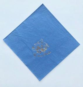 Serwetki papierowe z napisami - Serwetki z nadrukiem ślubnym, niebieskie - WYPRZEDAŻ