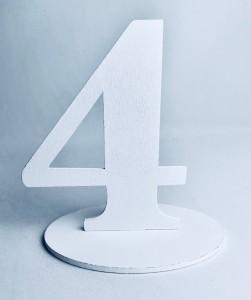 """Numery na stół - Cyferka drewniana """"4"""""""