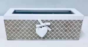 Pudełka na prezenty - Pudełko drewniane z przegródkami / 33813
