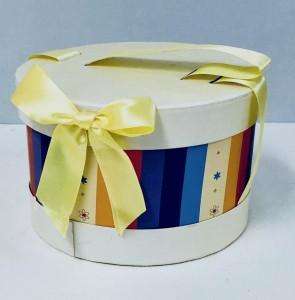 Pudełka na prezenty - Pudełko okrągłe, mix wzorów / średnica 16 cm, wysokość 10 cm