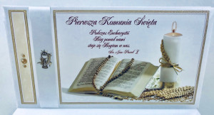 "Kartki i pamiątki i komunijne - Album na Komunię ""Pamiątka I Komunii Świętej"" / K4B1"