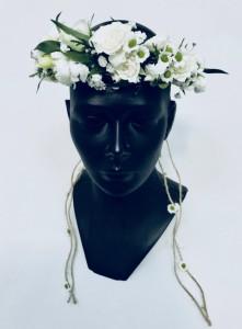Napisy komunijne i dekoracje komunijne - Wianek Komunijny I Komunia Święta z żywych kwiatów