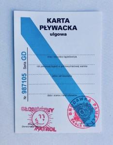 """Prezenty dla dorosłych - Karta pływacka """"Słoneczny Patrol"""""""