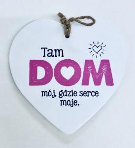 """Tabliczki z dedykacją do powieszenia - Serce """"Dom"""""""