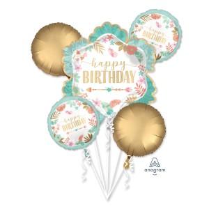 Zestawy balonów na urodziny dorosłych - Zestaw balonów na urodziny w stylu Boho
