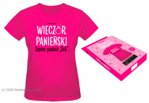 Prezenty na Wieczór Panieński - Koszulka na Wieczór Panieński / rozm. S