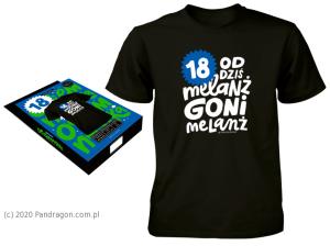 """Koszulki - Koszulka na 18 urodziny """"Melanż"""" / rozm. L"""