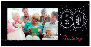 Ramki na zdjęcia - Ramka na zdjęcie na 60 urodziny / Harmony