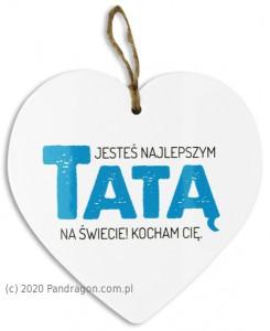 """Prezenty dla Taty - Serce ceramiczne """"Tata"""""""
