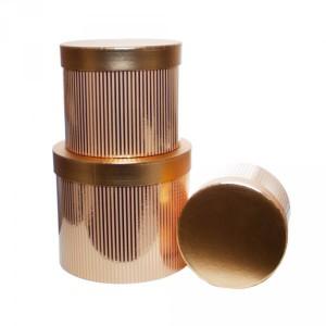 Pudełka na prezenty - Złote pudełko / średnica 23 cm, wysokość 19 cm