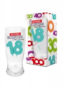 Prezenty dla dorosłych - Szklanka do piwa Baloniki na 18