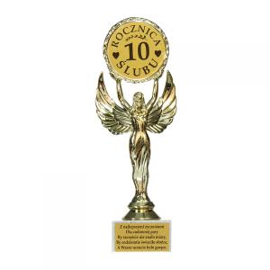 """Statuetki i podkowy - Statuetka """"10 Rocznica Ślubu"""" / VIC10"""