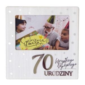 Ramki na zdjęcia - Ramka na zdjęcie na 70 urodziny / RM-022