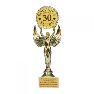 """Statuetki i podkowy - Statuetka """"30 Rocznica Ślubu"""" / DIL-P-VIC-30"""