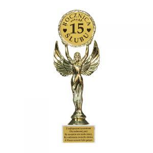 """Statuetki i podkowy - Statuetka """"15 Rocznica Ślubu"""" / DIL-P-VIC-15-ROCZNICA"""