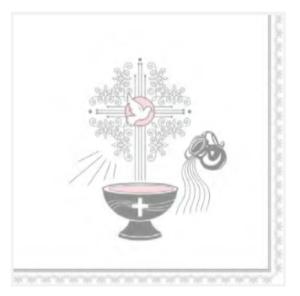Serwetki papierowe z napisami - Serwetki na Chrzest Święty dziewczynki