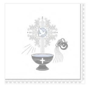 Serwetki papierowe z napisami - Serwetki na Chrzest Święty chłopca