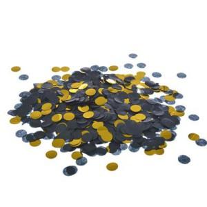 Konfetti kropki - Konfetti kółka czarno-złote