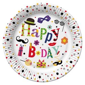 Talerzyki z napisami - Talerzyki na urodziny Funny Birthday