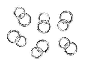 Aplikacje dekoracyjne - Aplikacje Obrączki, srebrny, 15mm