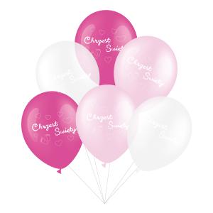 """Balony na Chrzest Święty - Balony lateksowe na Chrzest Święty dziewczynki, mix / 12"""""""