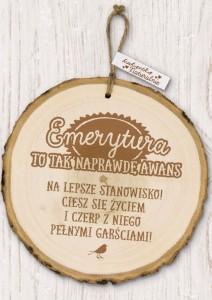 """Prezenty na emeryturę - Sentencja Eco-Art """"Emerytura"""""""