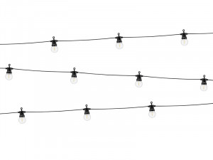 Oświetlenie dekoracyjne LED - Lampki czarne dekoracyjne LED / 5 m