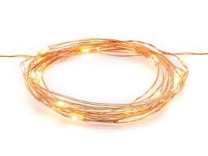 Oświetlenie dekoracyjne LED - Lampki dekoracyjne LED, miedziane / 1,9 m