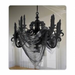 Dekoracje na Halloween Straszydła - Ozdoba na Halloween papierowy Żyrandol z tiulem