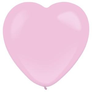 """Balony lateksowe o nietypowych kształtach - Balony lateksowe Serca """"Decorator"""" Standard Pink / 12""""-30 cm"""